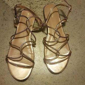 Merona gold flats sandal 9.5